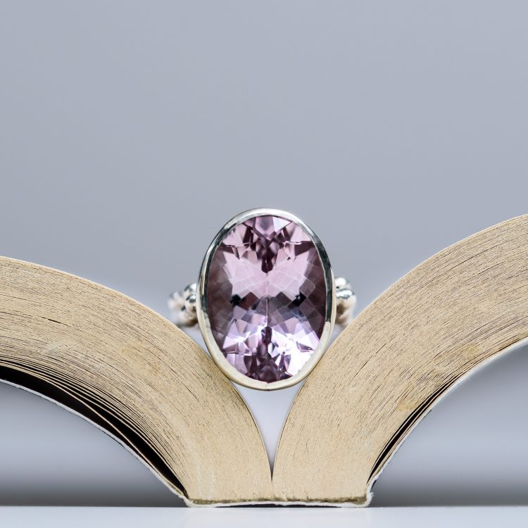 Sterling Silver and Morganite Dress Ring